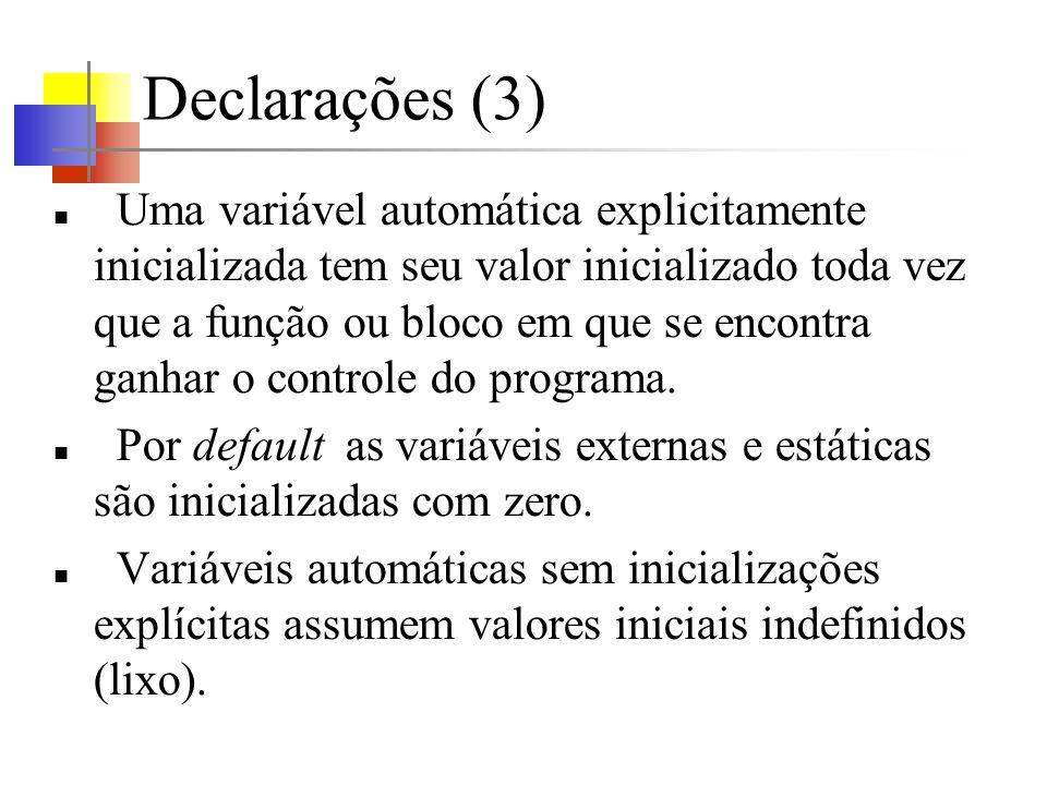 Declarações (3)