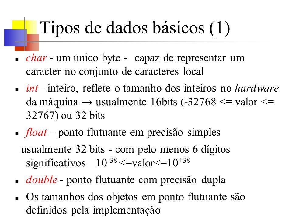 Tipos de dados básicos (1)