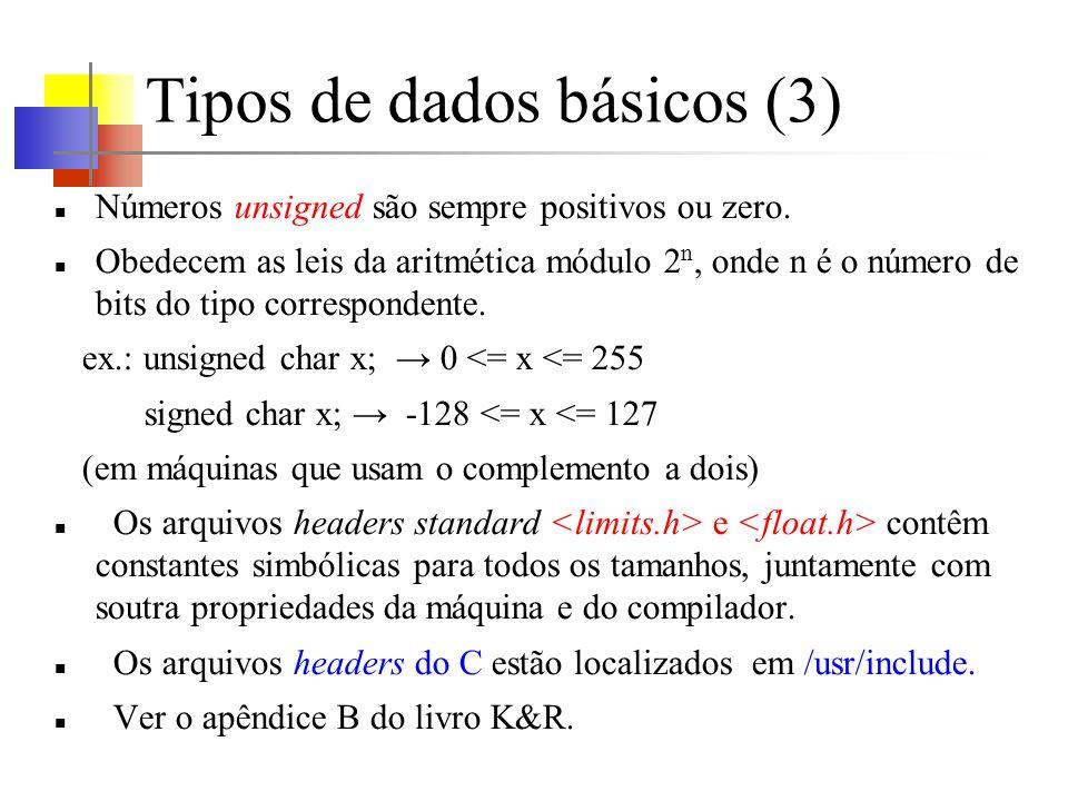 Tipos de dados básicos (3)