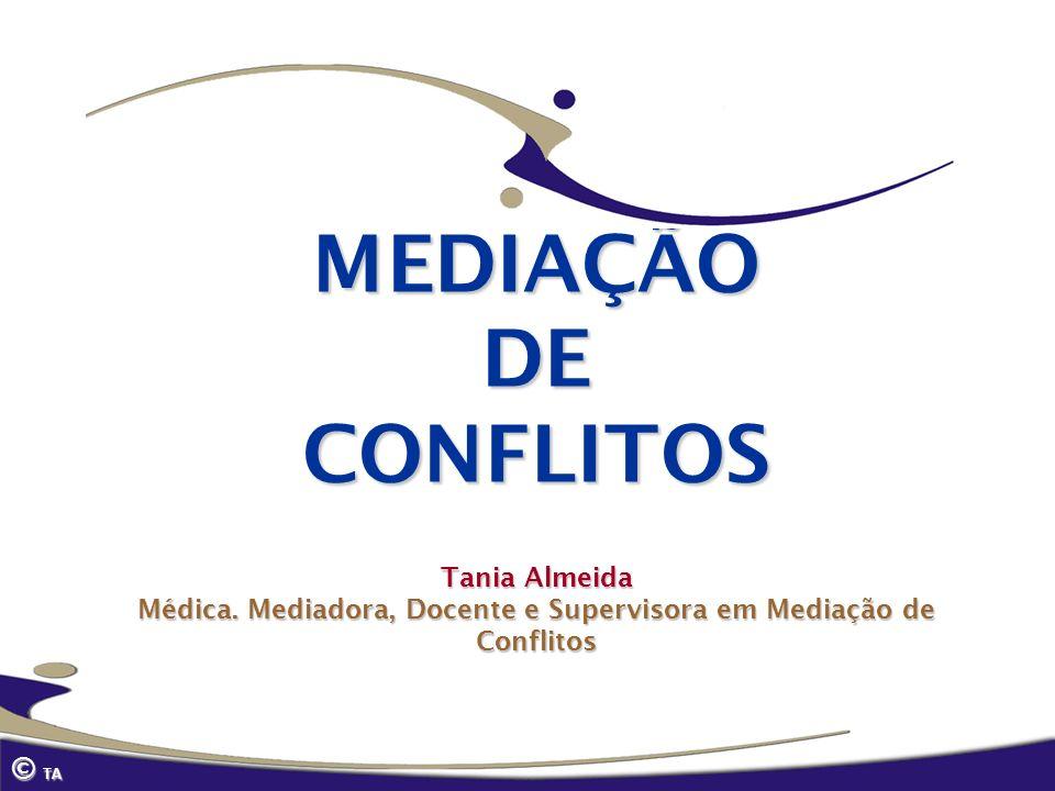 MEDIAÇÃO DE CONFLITOS Tania Almeida Médica
