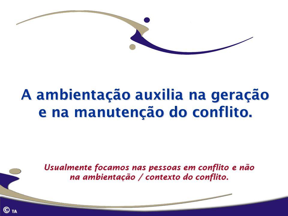 A ambientação auxilia na geração e na manutenção do conflito.