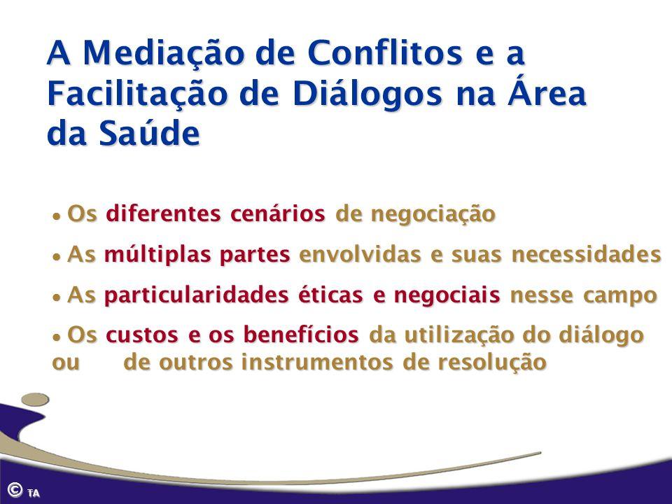 A Mediação de Conflitos e a Facilitação de Diálogos na Área da Saúde