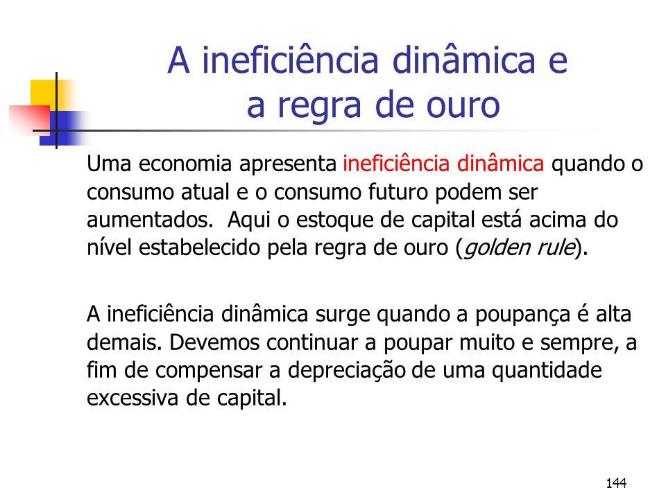 A ineficiência dinâmica e a regra de ouro