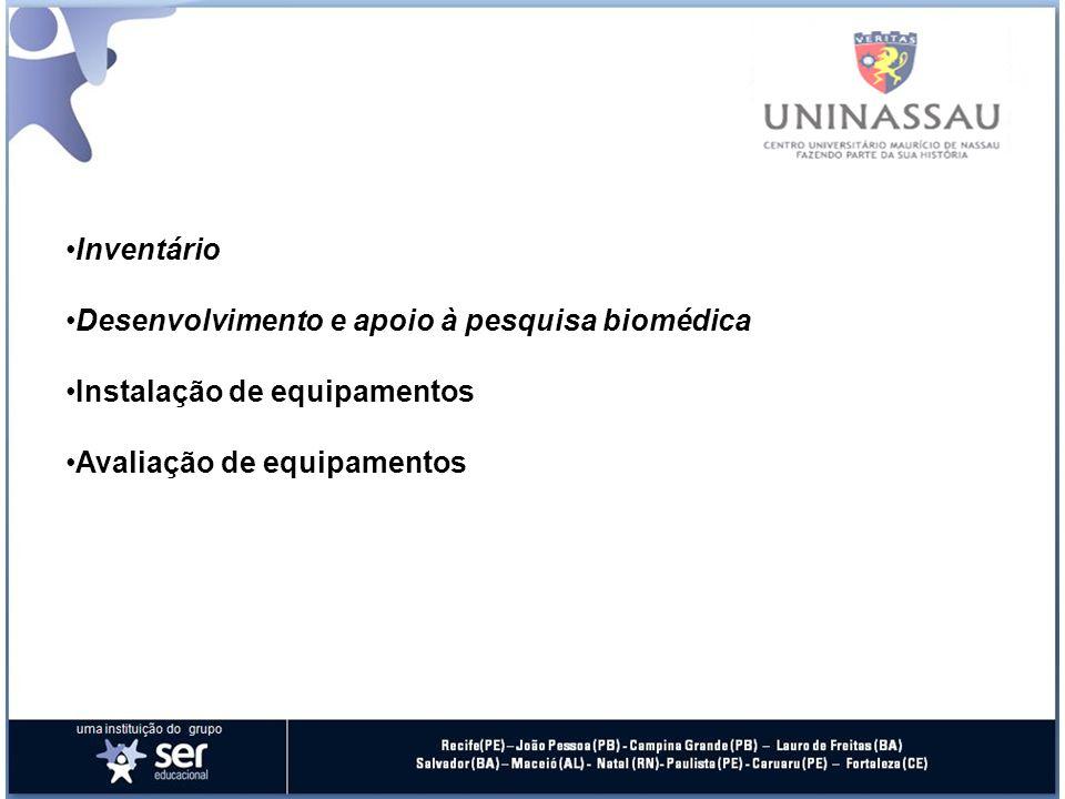 Inventário Desenvolvimento e apoio à pesquisa biomédica.
