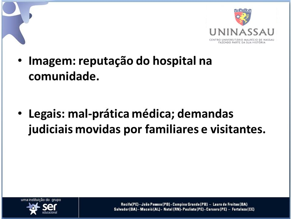 Imagem: reputação do hospital na comunidade.