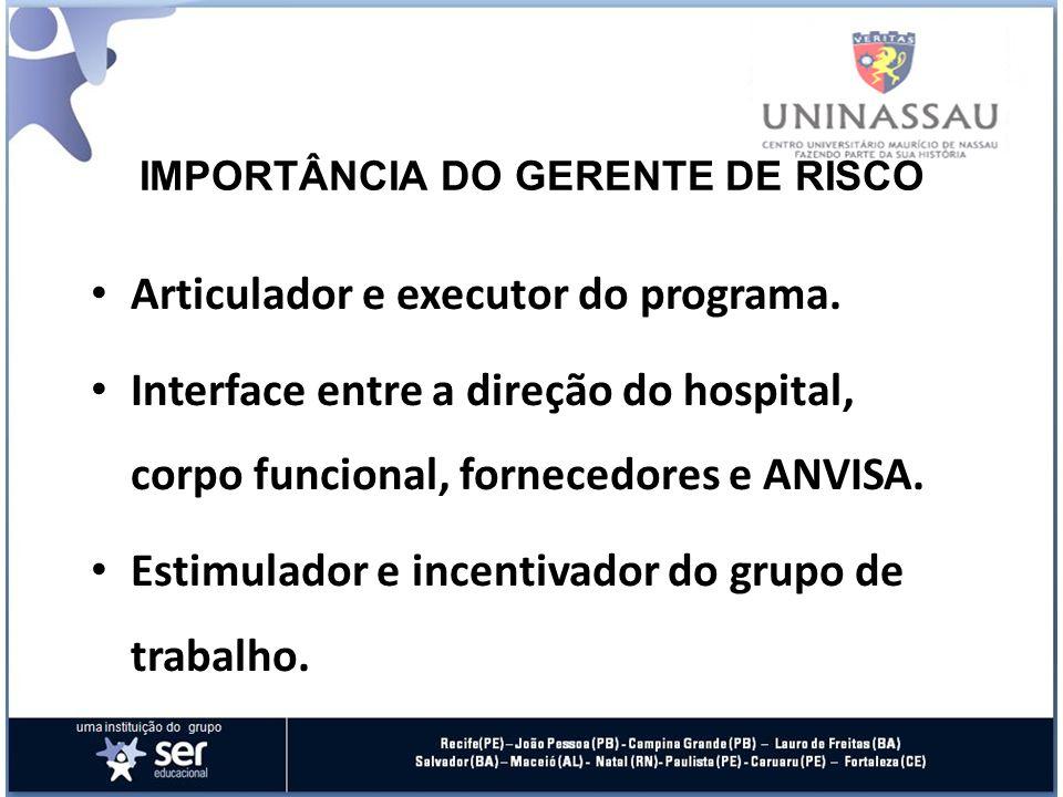 IMPORTÂNCIA DO GERENTE DE RISCO