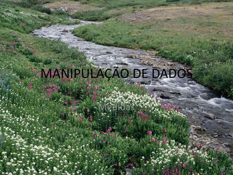 MANIPULAÇÃO DE DADOS Medidas