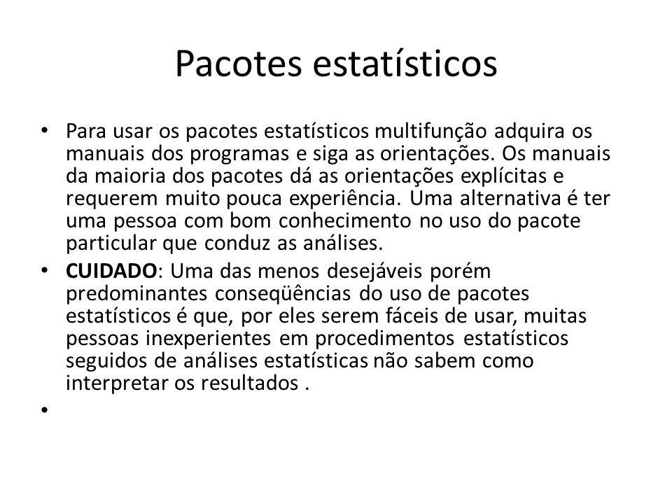Pacotes estatísticos