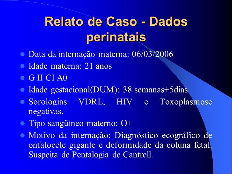 Relato de Caso - Dados perinatais