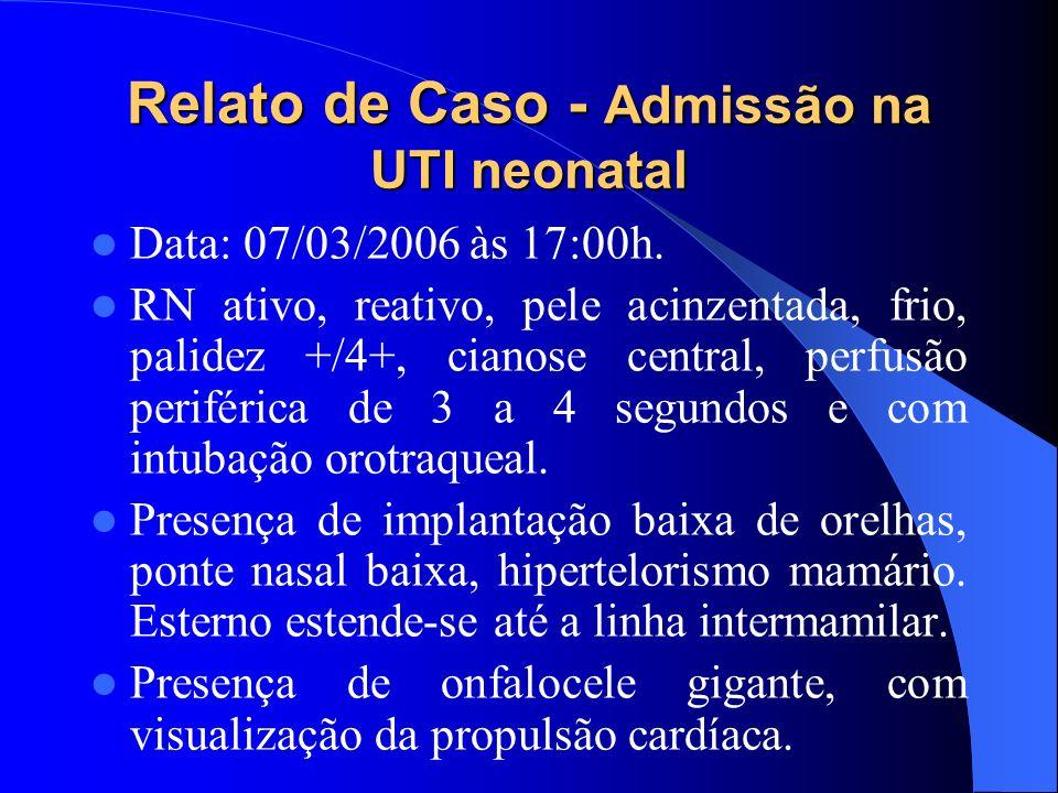 Relato de Caso - Admissão na UTI neonatal