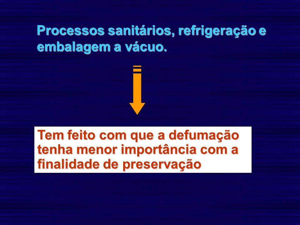 Processos sanitários, refrigeração e embalagem a vácuo.