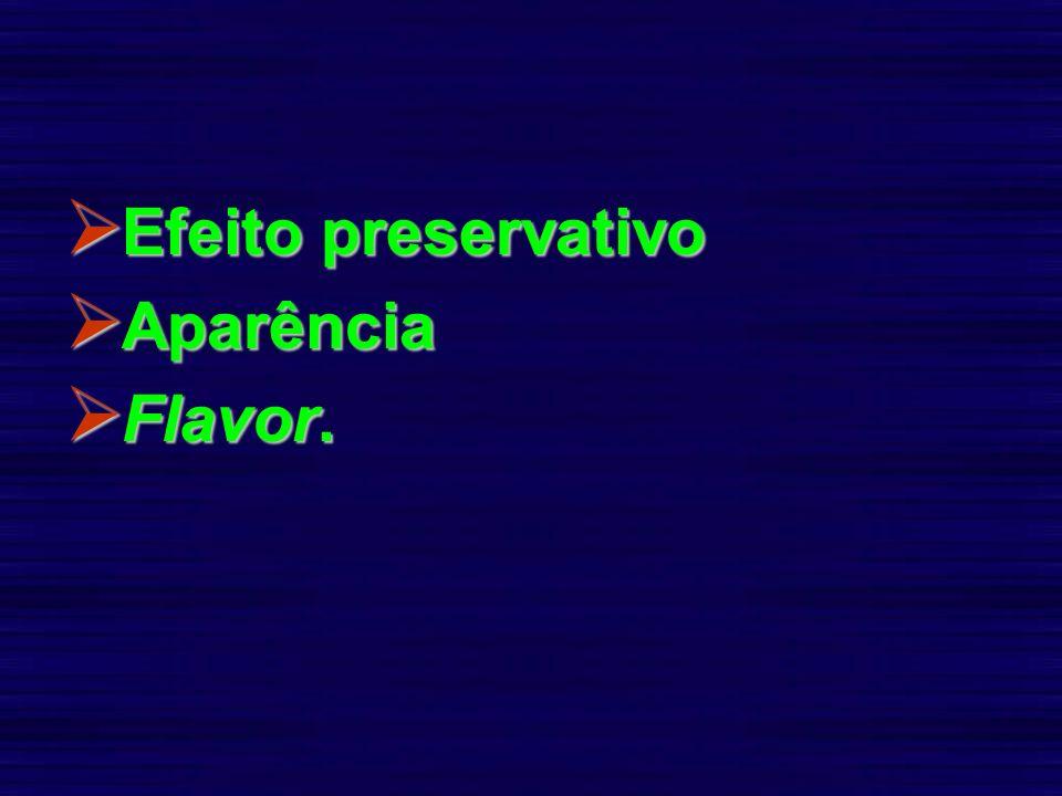 Efeito preservativo Aparência Flavor.