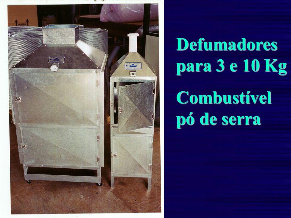 Defumadores para 3 e 10 Kg Combustível pó de serra