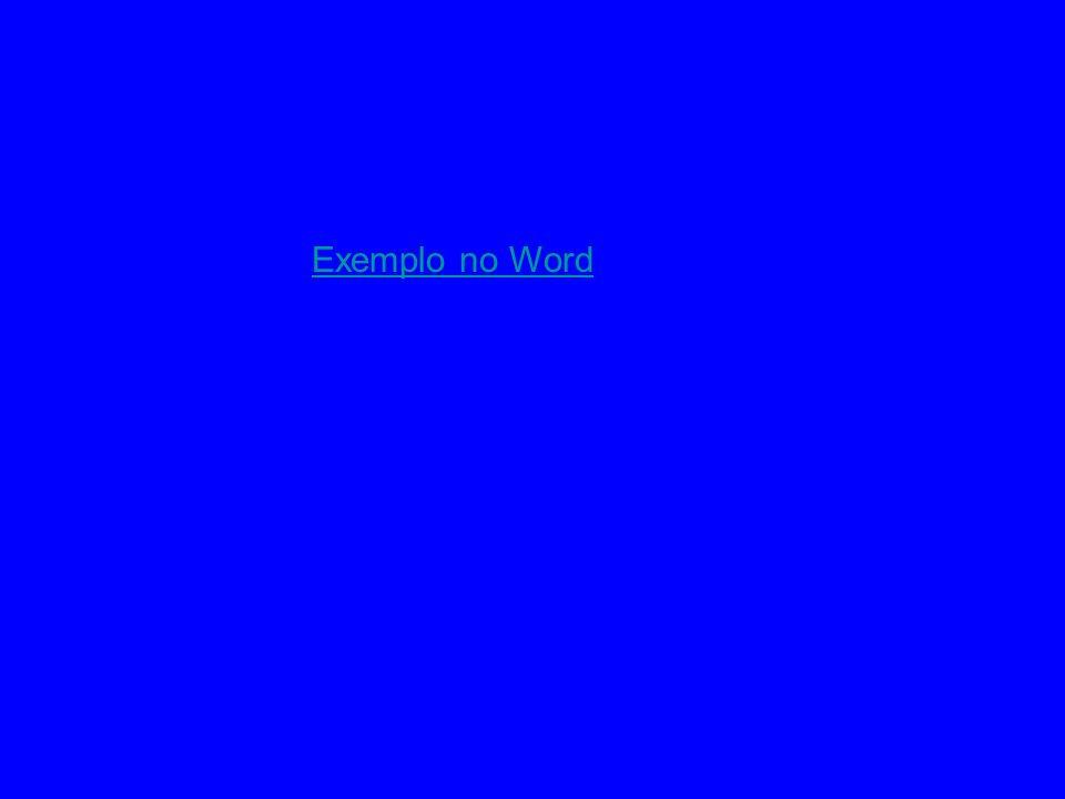 Exemplo no Word
