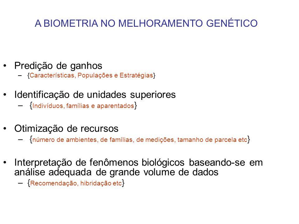 A BIOMETRIA NO MELHORAMENTO GENÉTICO