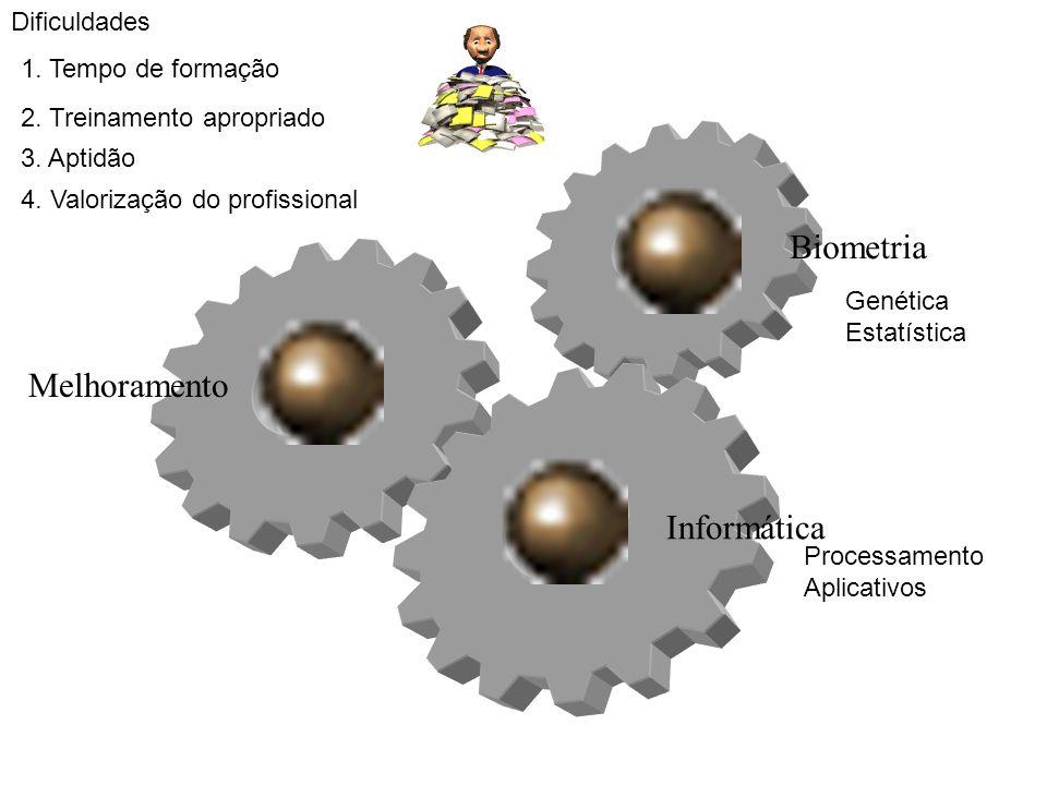 Biometria Melhoramento Informática Dificuldades 1. Tempo de formação