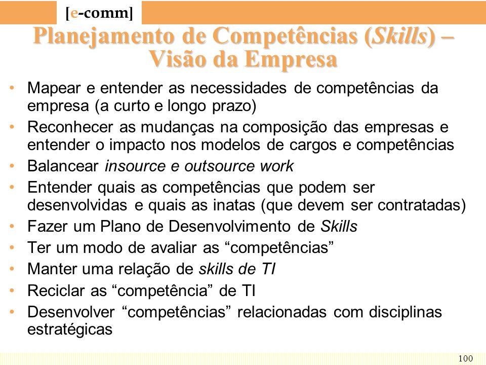 Planejamento de Competências (Skills) – Visão da Empresa