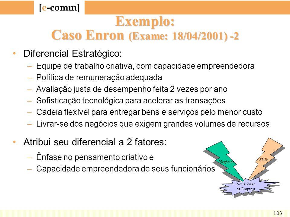 Exemplo: Caso Enron (Exame: 18/04/2001) -2