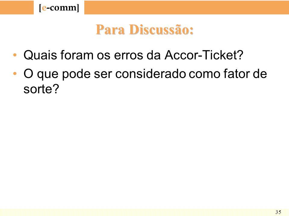 Para Discussão: Quais foram os erros da Accor-Ticket