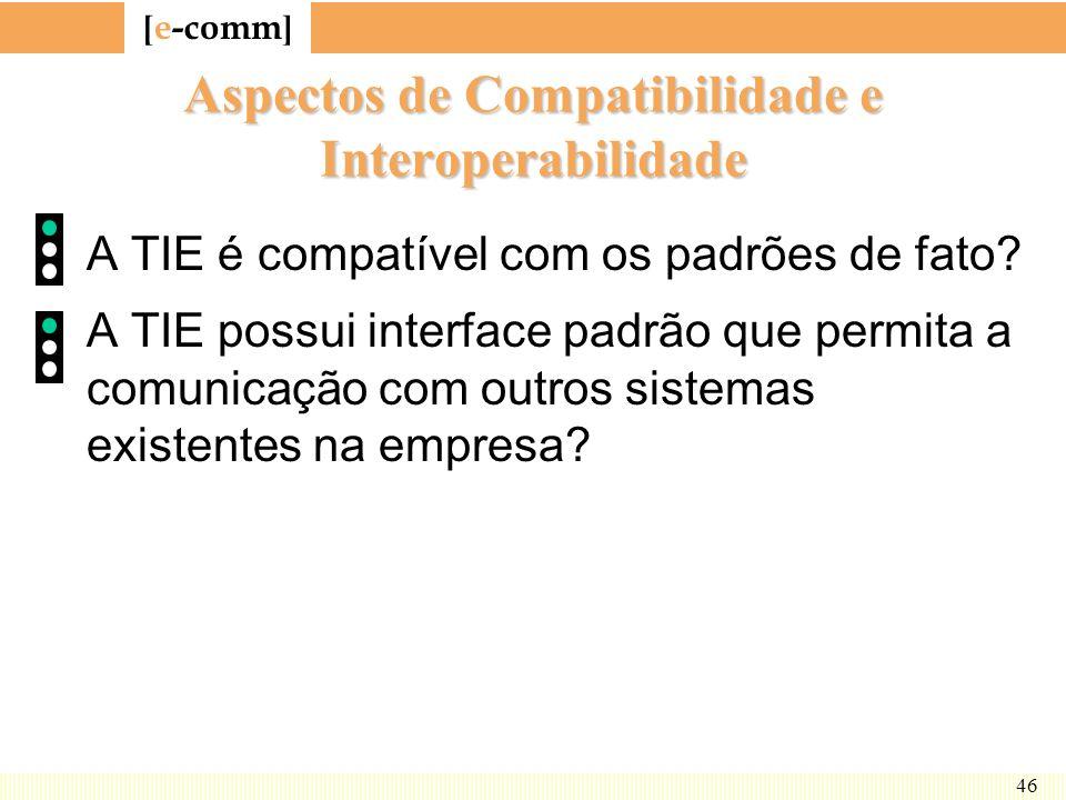 Aspectos de Compatibilidade e Interoperabilidade