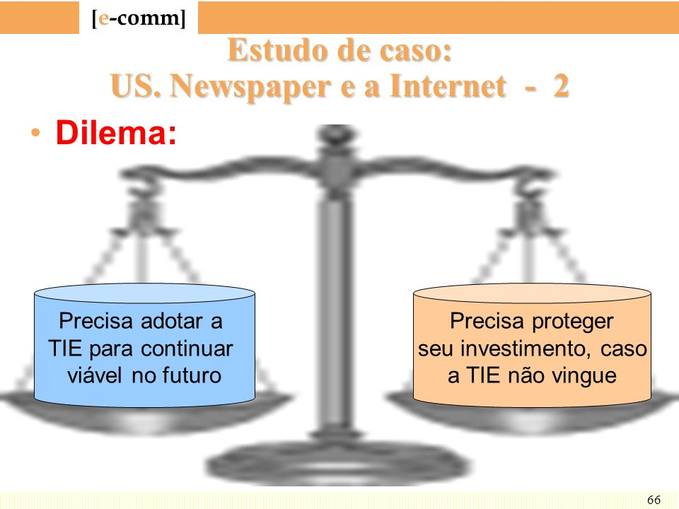 Estudo de caso: US. Newspaper e a Internet - 2