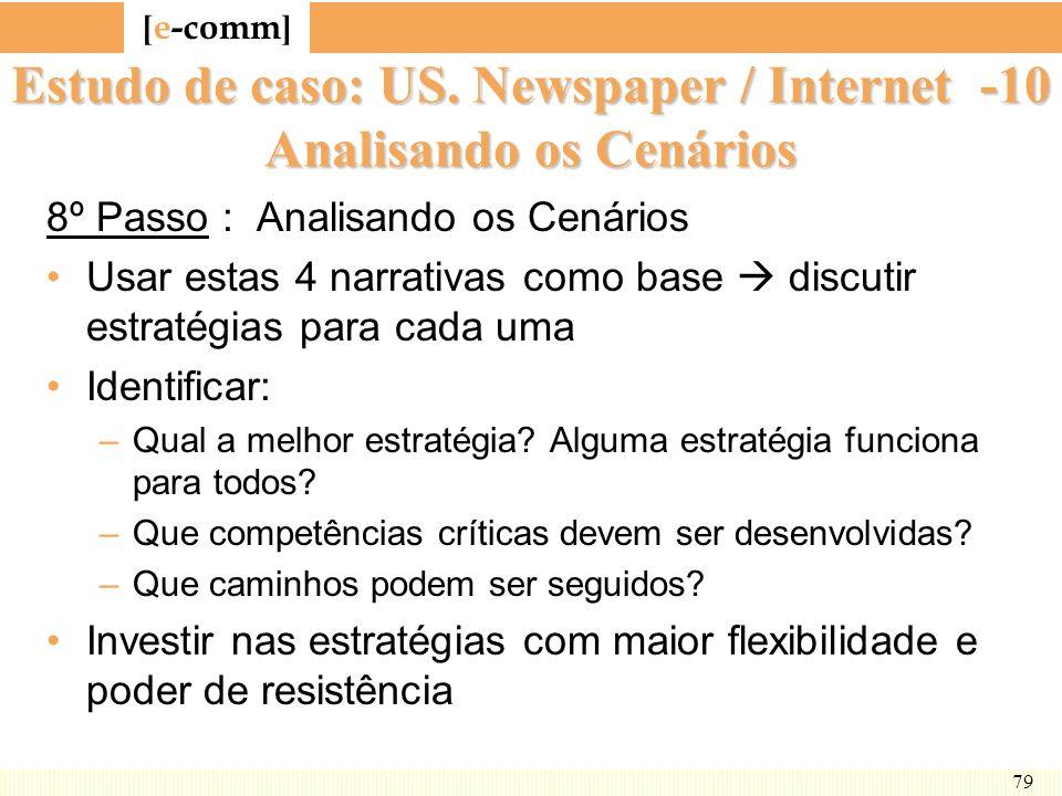 Estudo de caso: US. Newspaper / Internet -10 Analisando os Cenários