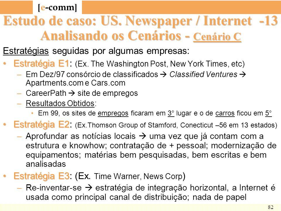 Estudo de caso: US. Newspaper / Internet -13 Analisando os Cenários - Cenário C