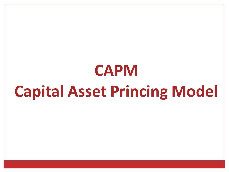 CAPM Capital Asset Princing Model