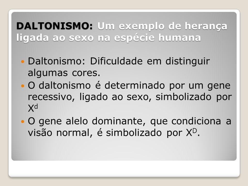 DALTONISMO: Um exemplo de herança ligada ao sexo na espécie humana
