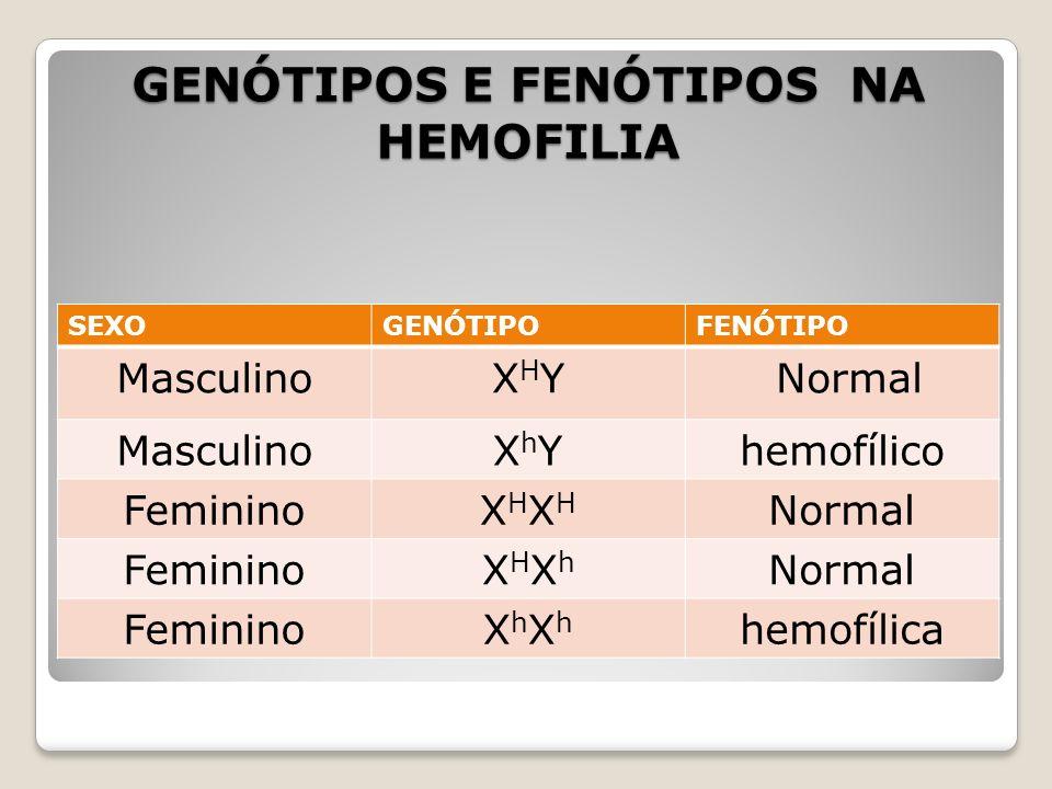 GENÓTIPOS E FENÓTIPOS NA HEMOFILIA