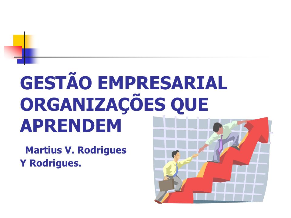 GESTÃO EMPRESARIAL ORGANIZAÇÕES QUE APRENDEM Martius V