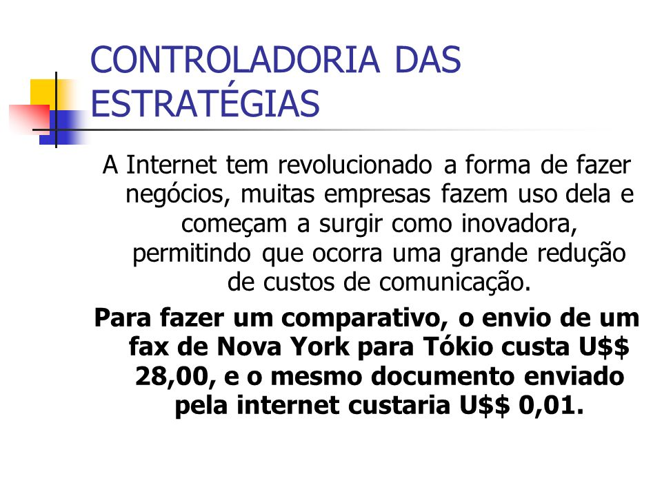 CONTROLADORIA DAS ESTRATÉGIAS