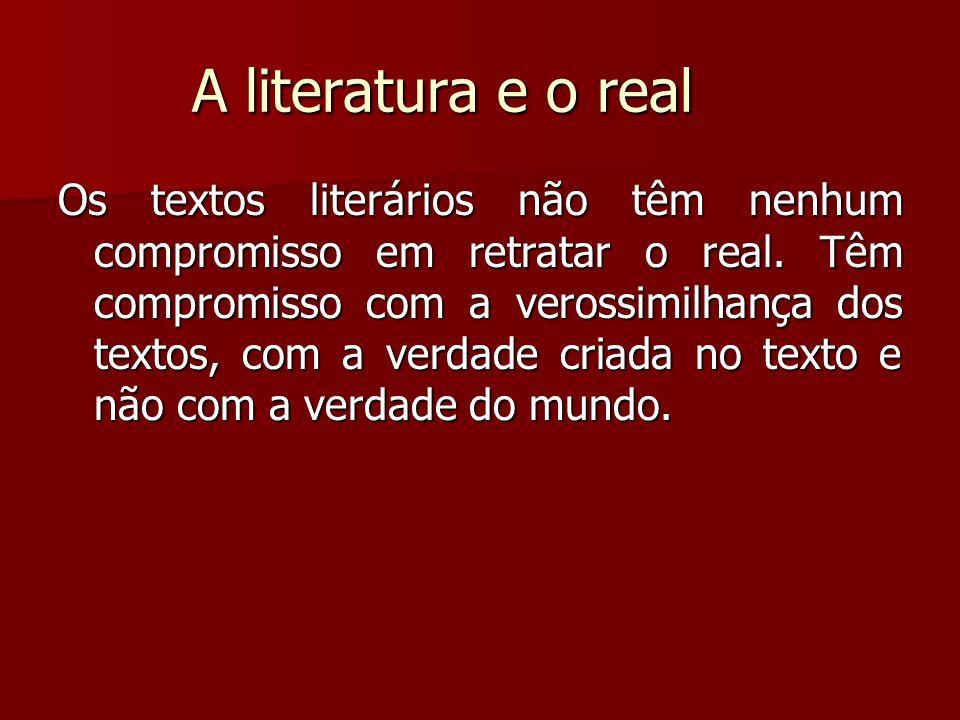 A literatura e o real