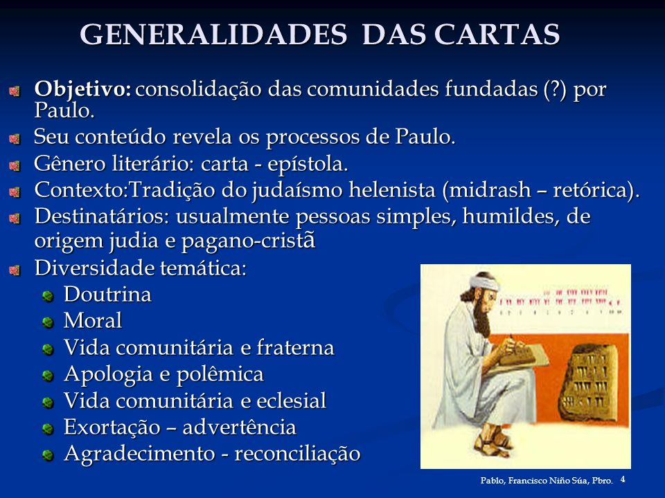GENERALIDADES DAS CARTAS