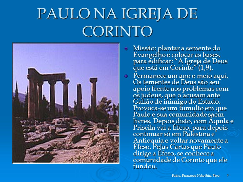 PAULO NA IGREJA DE CORINTO