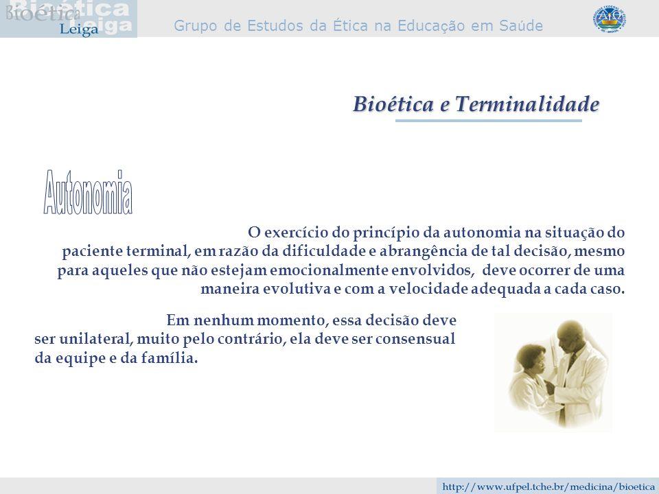 Bioética e Terminalidade