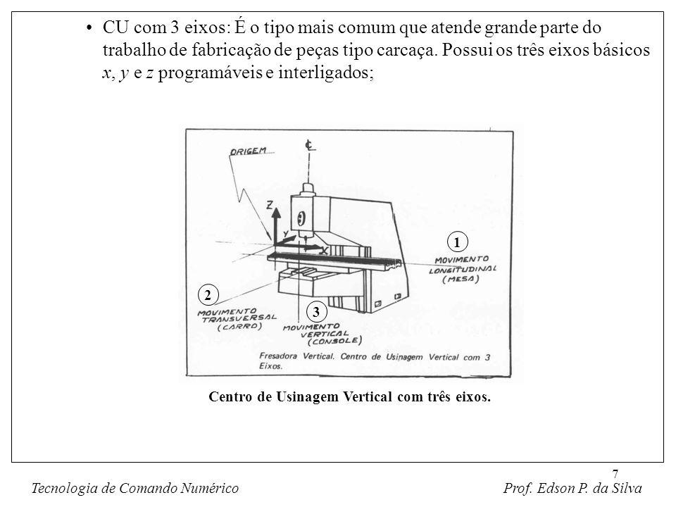 Centro de Usinagem Vertical com três eixos.