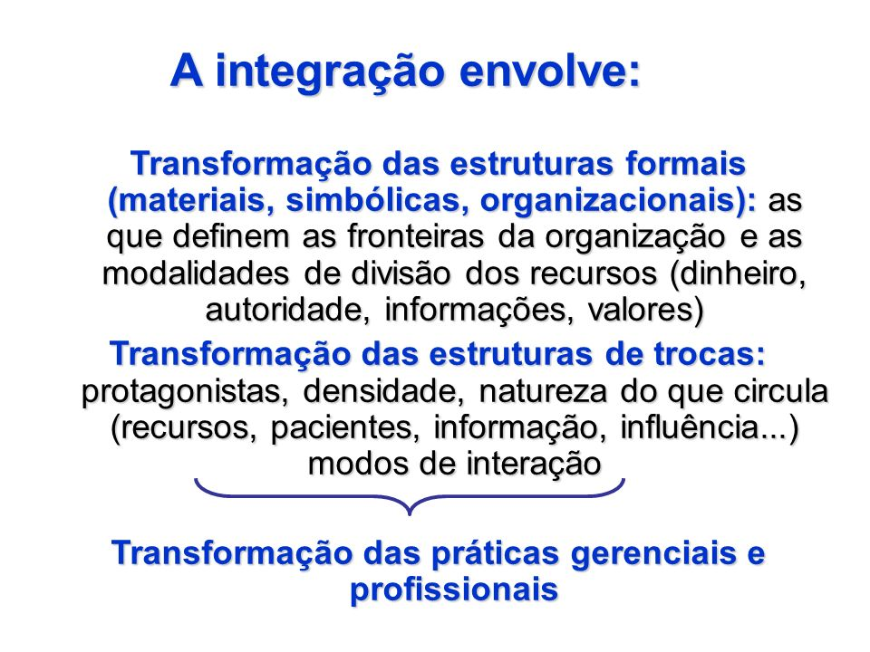 Transformação das práticas gerenciais e profissionais