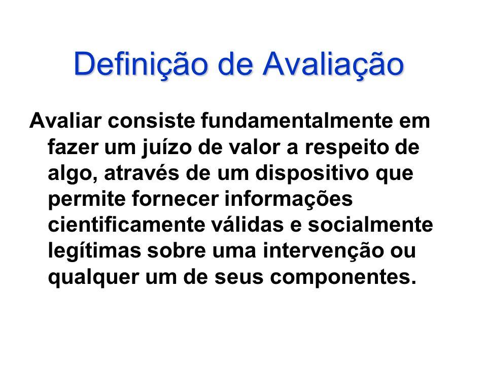 Definição de Avaliação