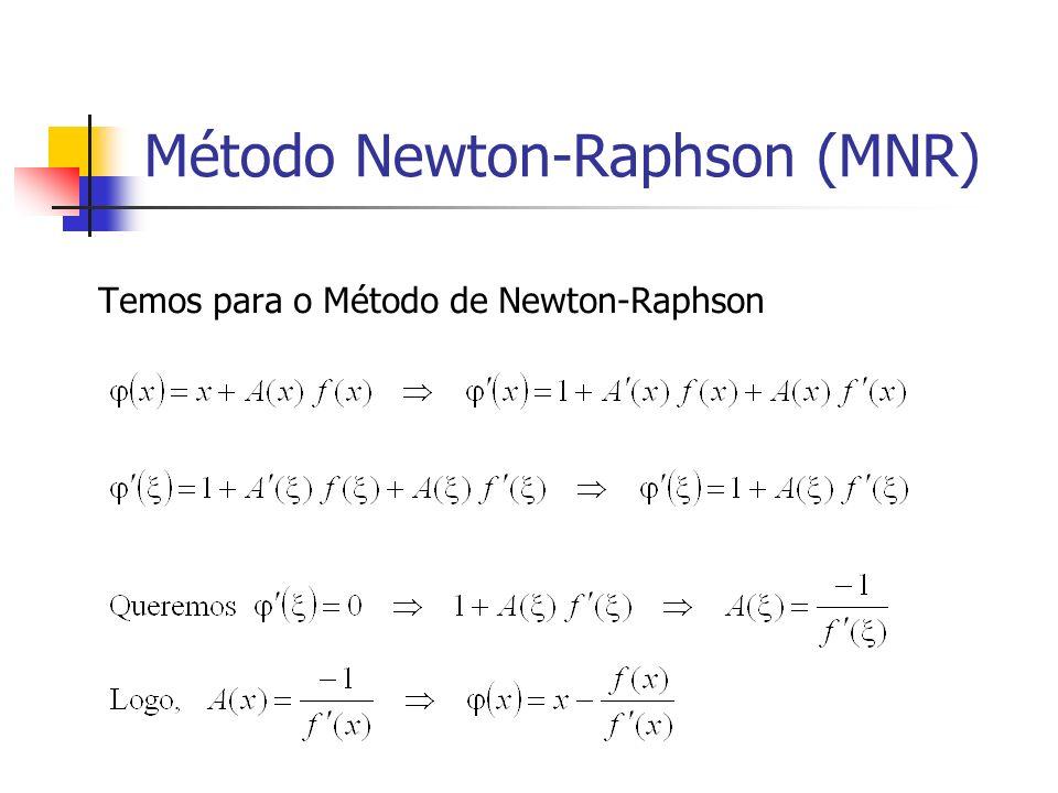 Método Newton-Raphson (MNR)