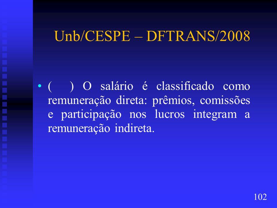 Unb/CESPE – DFTRANS/2008