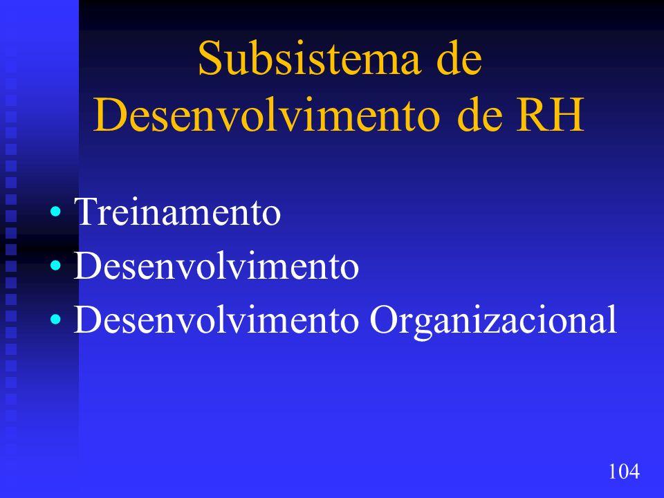 Subsistema de Desenvolvimento de RH