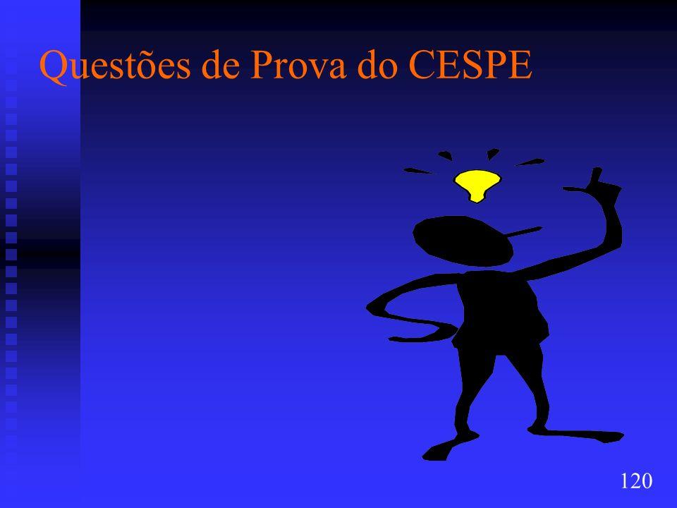 Questões de Prova do CESPE