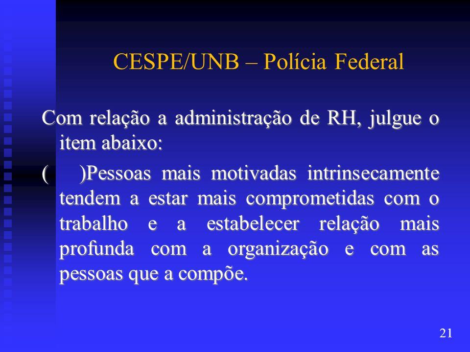CESPE/UNB – Polícia Federal