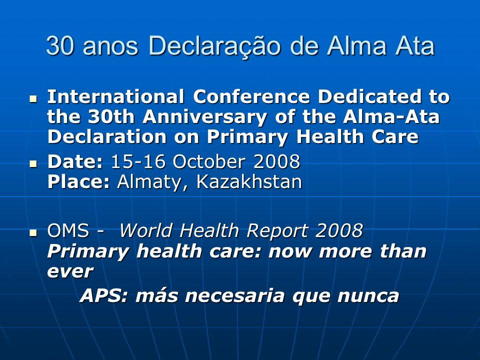 30 anos Declaração de Alma Ata