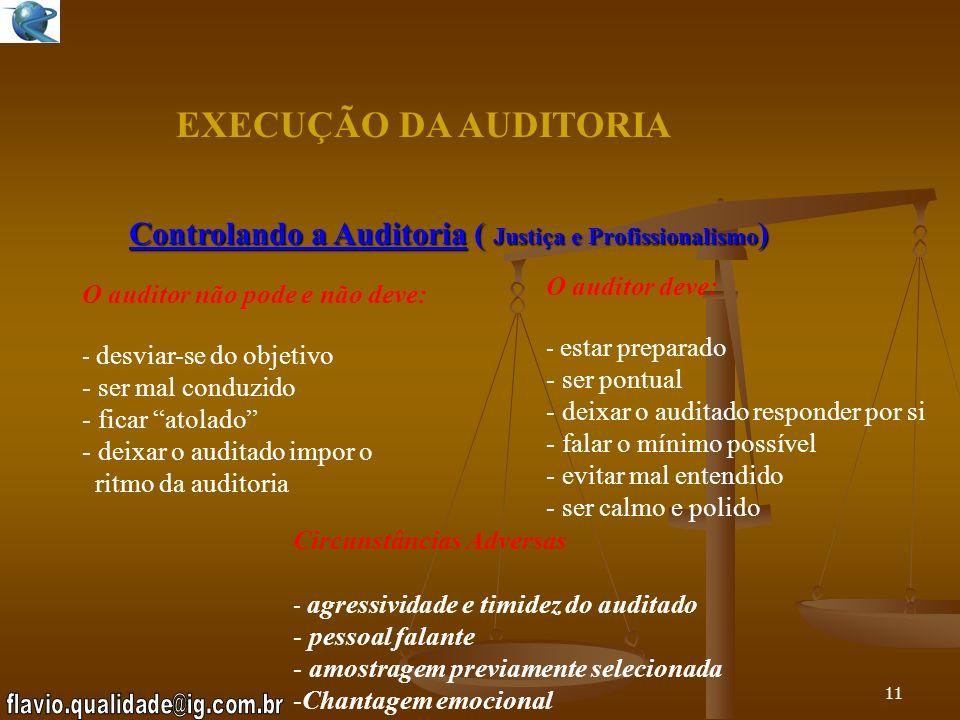 Controlando a Auditoria ( Justiça e Profissionalismo)