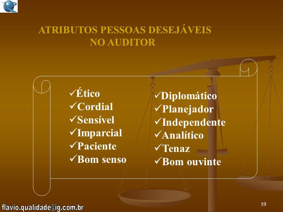 ATRIBUTOS PESSOAS DESEJÁVEIS NO AUDITOR