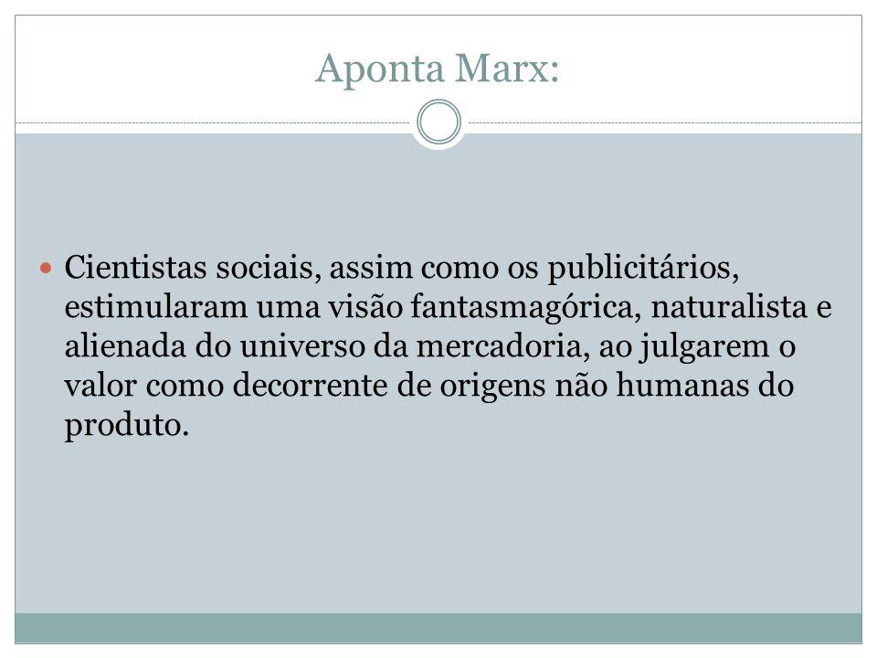 Aponta Marx: