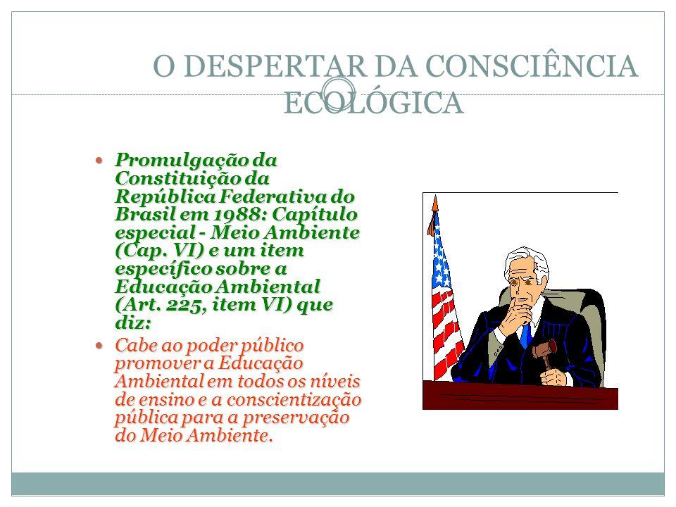 O DESPERTAR DA CONSCIÊNCIA ECOLÓGICA