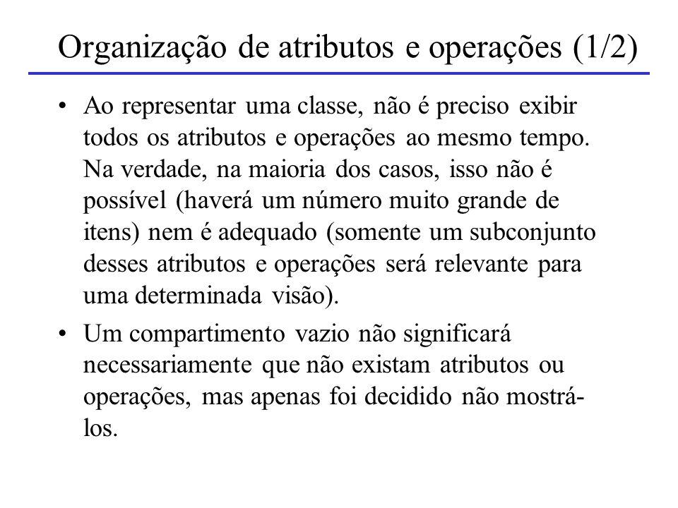 Organização de atributos e operações (1/2)